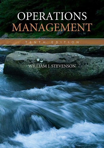 Operations Management  10th 2009 edition cover