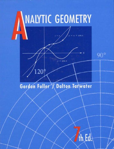 Analytic Geometry  7th 1992 edition cover