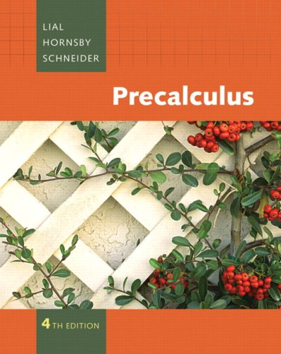 Precalculus  4th 2009 9780321528841 Front Cover