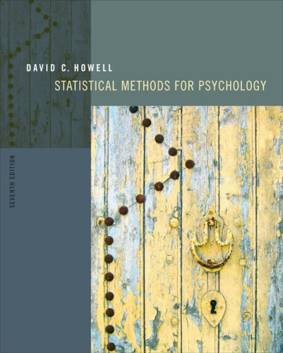Statistical Methods for Psychology  7th 2010 edition cover