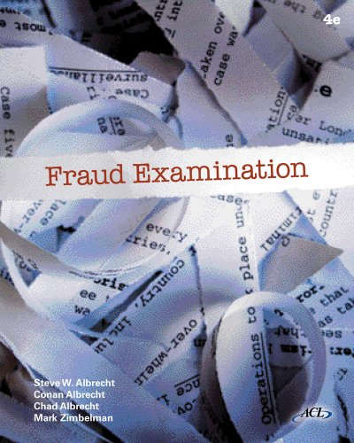 Fraud Examination  4th 2012 edition cover