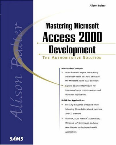Mastering Microsoft Access 2000 Development   1999 9780672314841 Front Cover