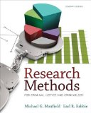 Research Methods for Criminal Justice and Criminology  7th 2015 9781285067841 Front Cover