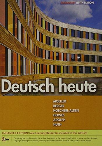 Deutsch Heute, Enhanced  10th 2016 9781305633841 Front Cover