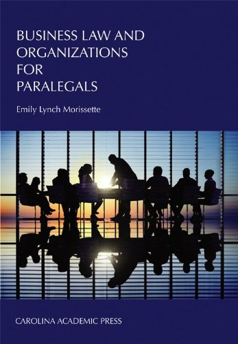 Business Law and Organizations for Paralegals   2012 edition cover