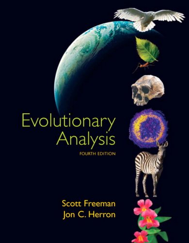 Evolutionary Analysis  4th 2007 (Revised) edition cover
