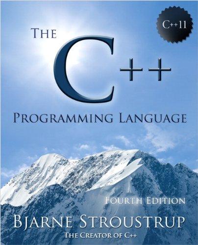 C++ Programming Language  4th 2013 edition cover