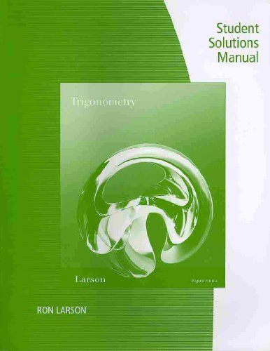 Trigonometry  8th 2011 9780538738842 Front Cover