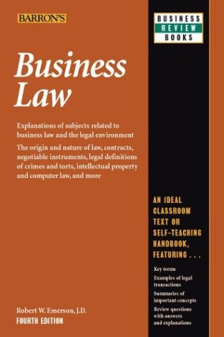 Business Law  4th 2003 (Expanded) edition cover