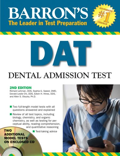 DAT Dental Admissions Test 2nd 2009 (Revised) edition cover