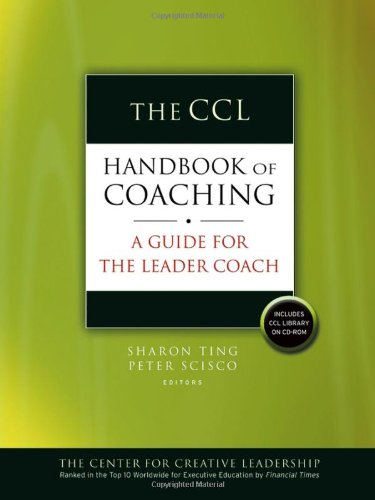 CCL Handbook of Coaching A Guide for the Leader Coach  2006 edition cover