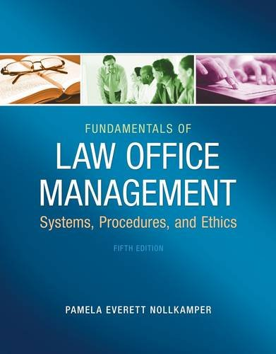 Fundamentals of Law Office Management  5th 2014 edition cover