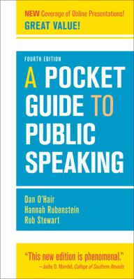 Pocket Guide to Public Speaking  4th 2013 9781457601842 Front Cover