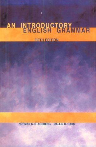 Introductory English Grammar  5th 2000 (Revised) 9780030183843 Front Cover