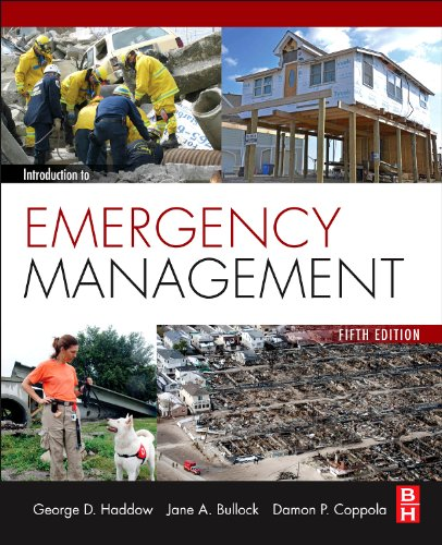 Introduction to Emergency Management:   2013 edition cover