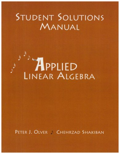 Applied Linear Algebra   2005 9780131473843 Front Cover