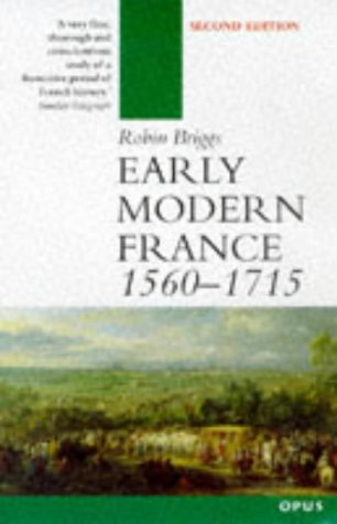 Early Modern France 1560-1715  2nd 1998 (Revised) edition cover
