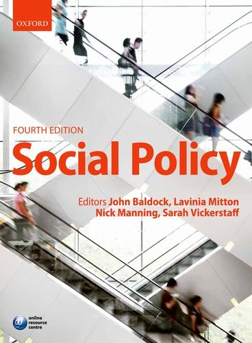 Social Policy  4th 2011 edition cover