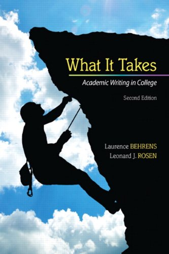 What It Takes Academic Writing in College 2nd 2013 edition cover