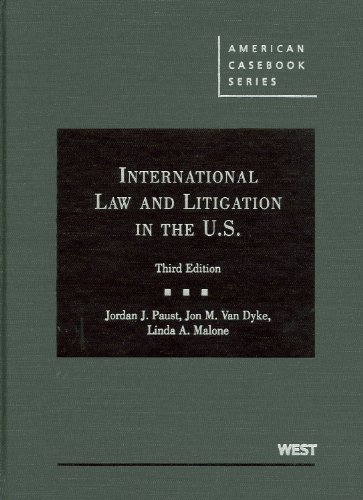 International Law and Litigation in the United States  3rd 2009 (Revised) edition cover