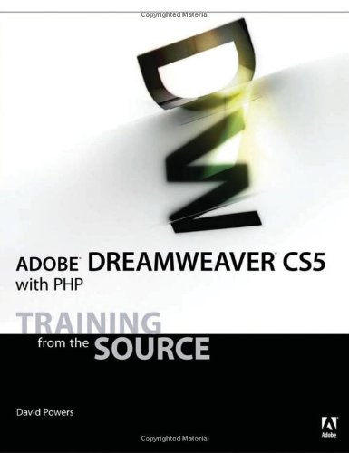 Adobe Dreamweaver Cs5 with Php Training from the Source  2011 9780321719843 Front Cover