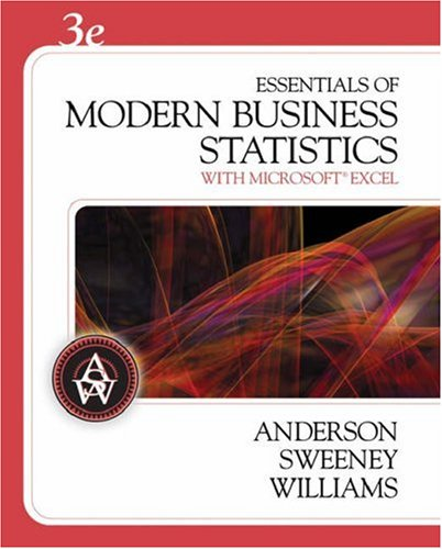 Essentials of Modern Business Statistics With Microsoft Excel 3rd 2007 edition cover
