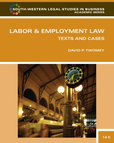 Labor and Employment Law Text and Cases 14th 2010 edition cover