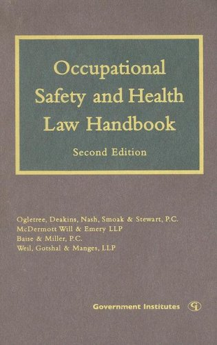 Occupational Safety and Health Law Handbook  2nd 2007 (Revised) edition cover