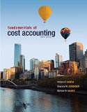 Fundamentals of Cost Accounting with Connect  4th 2014 edition cover