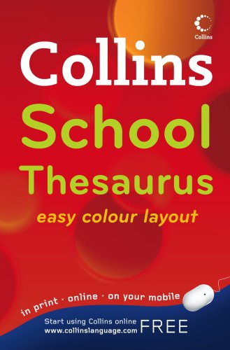 Collins School Thesaurus  4th 2009 9780007289844 Front Cover