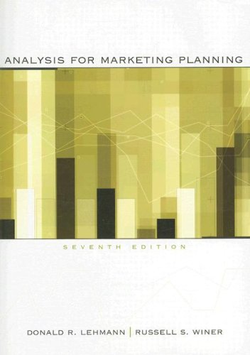 Analysis for Marketing Planning  7th 2008 edition cover