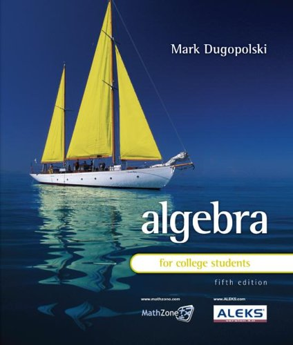 Algebra for College Students  5th 2009 edition cover