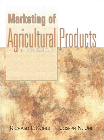 Marketing of Agricultural Products  9th 2002 (Revised) edition cover