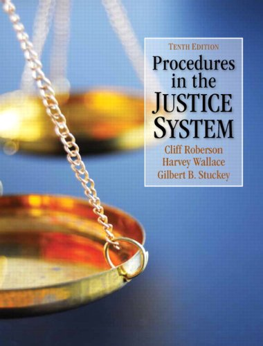 Procedures in the Justice System  10th 2013 (Revised) edition cover