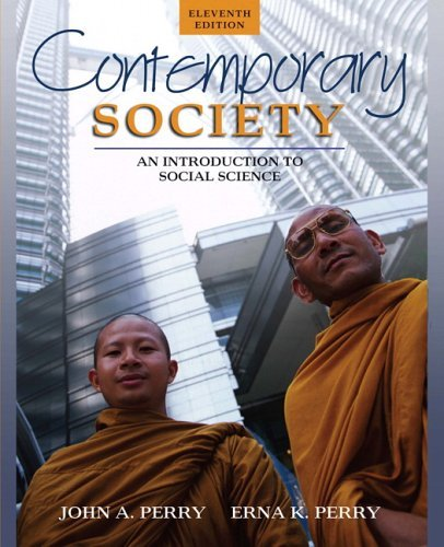 Contemporary Society An Introduction to Social Science 11th 2006 (Revised) edition cover