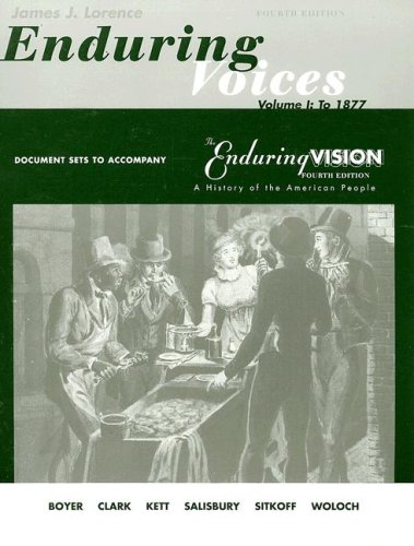 Enduring Voices A History of the American People 4th 2000 edition cover