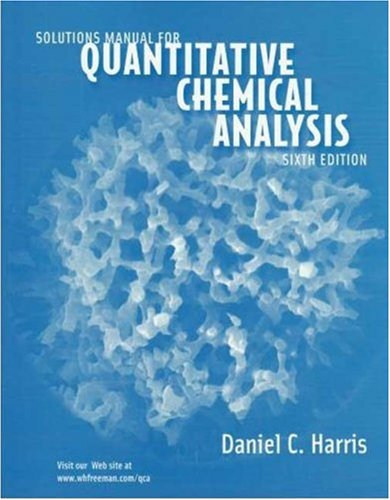 Quantitative Chemical Analysis  6th 2003 (Student Manual, Study Guide, etc.) edition cover