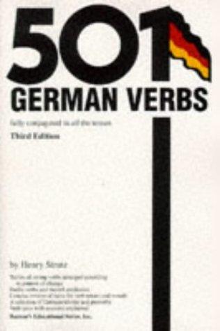 501 German Verbs  3rd 1998 edition cover