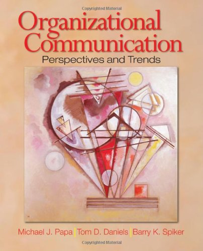 Organizational Communication Perspectives and Trends 5th 2008 edition cover