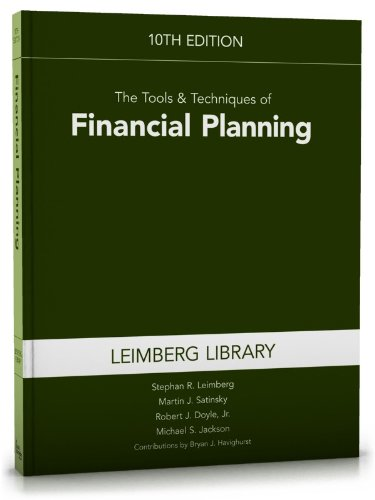 Tools and Techniques of Financial Planning  10th 2012 9781936362844 Front Cover