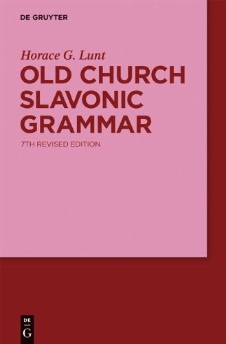 Old Church Slavonic Grammar  7th 2001 9783110162844 Front Cover