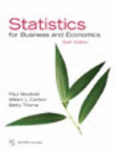 Statistics for Business and Economics and Student CD  6th 2007 (Revised) edition cover