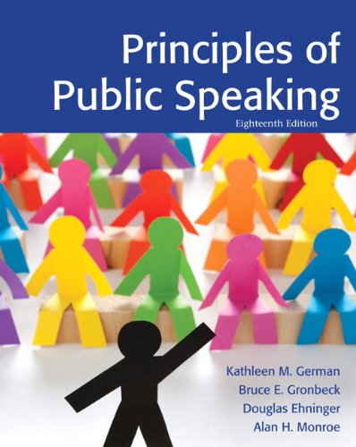 Principles of Public Speaking  18th 2013 (Revised) edition cover