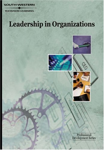 Leadership in Organizations   2001 9780538724845 Front Cover