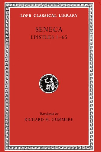 Seneca Epistles 1-65  1917 edition cover