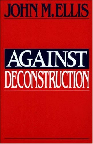 Against Deconstruction   1990 edition cover