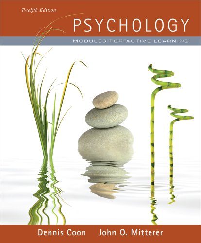 Psychology Modules for Active Learning (with Concept Modules with Note-Taking and Practice Exams Booklet) 12th 2012 edition cover
