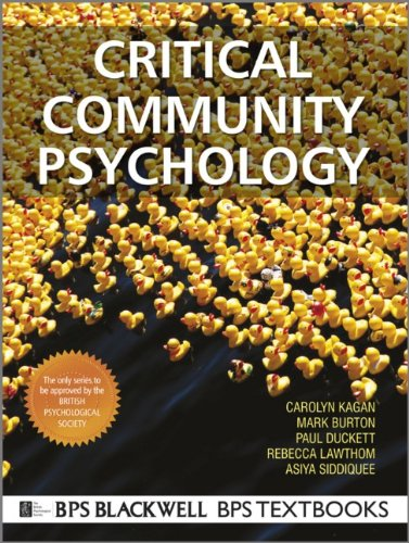Critical Community Psychology   2011 edition cover