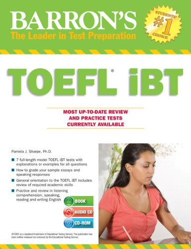 Barron's TOEFL IBT with Audio CDs and CD-ROM, 14th Edition  14th 2013 (Revised) edition cover