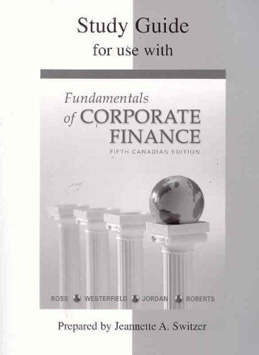 FUND.OF CORP.FIN.-STD.GDE.>CAN 5th 2005 edition cover